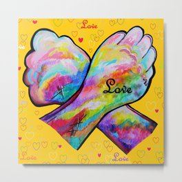 American Sign Language LOVE Metal Print