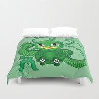 poison ivy Duvet Covers featuring Poison Ivy Bird by Beaston Designs