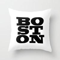 boston Throw Pillows featuring Boston by Jeremy Jon Myers