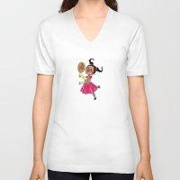 fancy V-neck T-shirts featuring Fancy by sheena hisiro