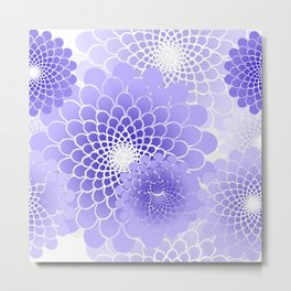 Spiral Flower pattern Metal Print