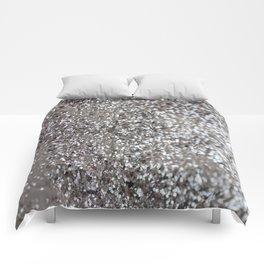 Sparkling SILVER Lady Glitter #1 #decor #art #society6 Comforters