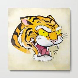Tiger Tattoo Flash Metal Print