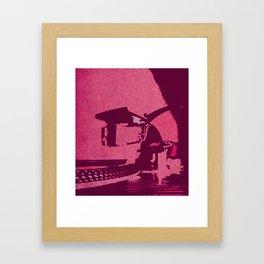 Hot Pink Turntable Vintage Style Art Framed Art Print