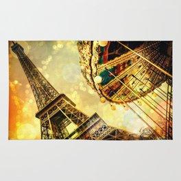 pariS. : Eiffel Tower & Ferris Wheel Rug