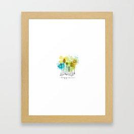 Happiness Framed Art Print