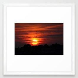 over the sun Framed Art Print