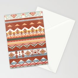 Boho Graphic Moroccan Oriental Carpet Modern Pattern Art Design - 1 Stationery Cards
