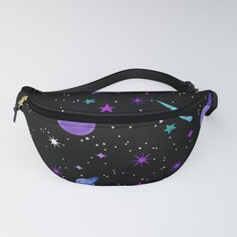 Just close your eyes and think about space Fanny Pack