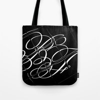 cassia beck Tote Bags featuring Beck-Fields Script Logo by Beck-Fields