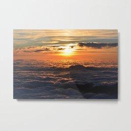 Sunset Over Clouds Metal Print