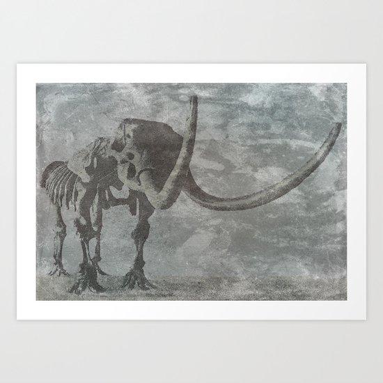 Half Tone Mammoth Art Print