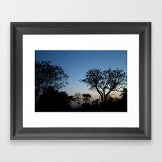 African Trees Framed Art Print
