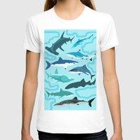 sharks T-shirts featuring Sharks by Raffles Bizarre