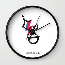 BOWIE – NAME TO A FACE Wall Clock