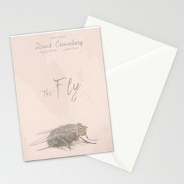 The Fly - Movie poster from David Cronenberg's classic horror film with Jeff Goldblum Stationery Cards