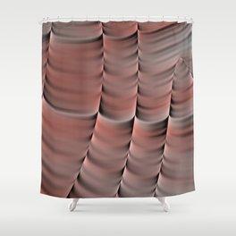 Peach Abstract Shower Curtain