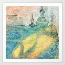 Unity - 22 Watercolor Painting Art Print