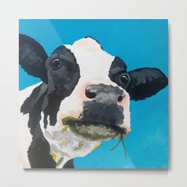 Margot the Relaxed Cow Metal Print