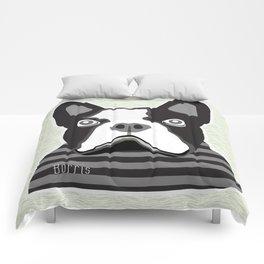 borris the french bulldog Comforters