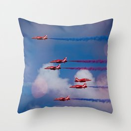 Red Arrows In The Sky Throw Pillow