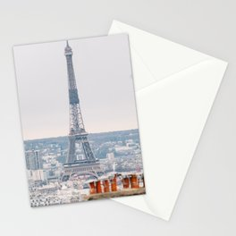Paris Eiffel Tower from Montmarte Stationery Cards