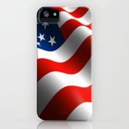 Patriotic US Waving Flag  iPhone Case
