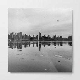 CITY REFLECTION Metal Print