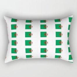 Flag of algeria 2 -algerian,algiers,camus,chaabi,oran,constantine,Annaba. Rectangular Pillow