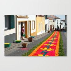Making flower carpets Canvas Print