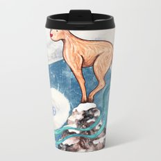 Winter Goat Metal Travel Mug