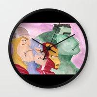 avenger Wall Clocks featuring Avenger by Richtoon