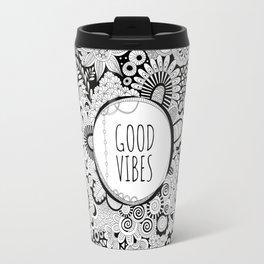 Good Vibes Doodle Travel Mug