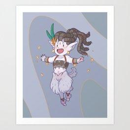 Mythology Opal Art Print