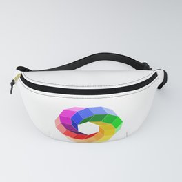 Illusion color wheel forming a hexagon Fanny Pack