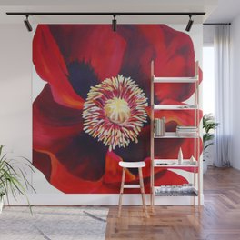 Big Red Poppy Wall Mural
