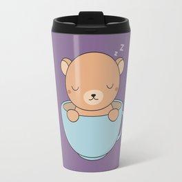 Kawaii Cute Coffee Brown Bear Travel Mug
