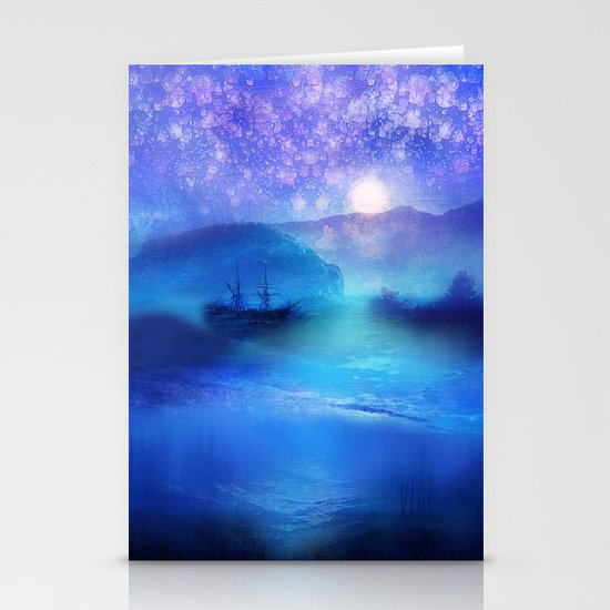Fantasy in Blue. Stationery Cards