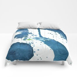 Blue Swirl Abstract Comforters