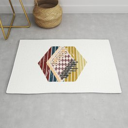 Colorful Chess Rug
