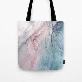 Calming Pastel Flow- Blush, grey and blue Tote Bag