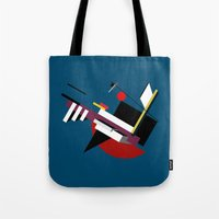 kandinsky Tote Bags featuring STARSHIP by THE USUAL DESIGNERS