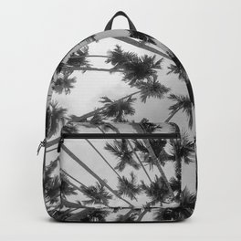 Above Palm Trees (Black and White) Backpack