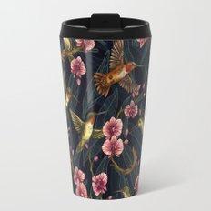 Hummingbird Pattern Travel Mug
