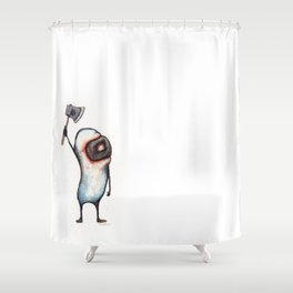 Beanman with Axe Shower Curtain