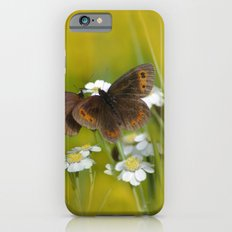 Summery Butterflies on Gold Slim Case iPhone 6s