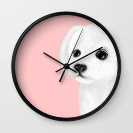 maltese 2 Wall Clock