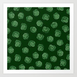Brussels Sprouts Pattern Art Print