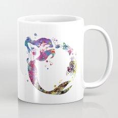 The Little Mermaid Ariel Watercolor  Mug