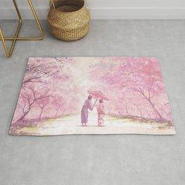 Japan Sakura Cherry Blossom Rug